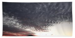 Beach Towel featuring the photograph Silhouette Of Uluru At Sunset by Keiran Lusk