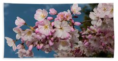 Silicon Valley Cherry Blossoms Beach Towel