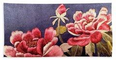 Silk Peonies - Kimono Series Beach Towel