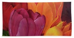 Silky Tulips Unite  Beach Towel
