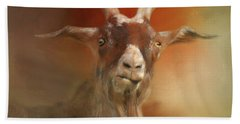 Silly Goat Beach Towel by Kathy Russell