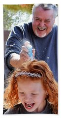 Silly String Attack Beach Towel