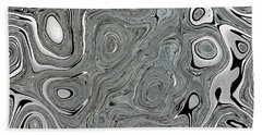 Silver Abstract Beach Towel