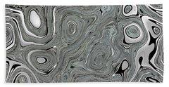 Silver Abstract Beach Sheet