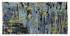 Silver And Gold  Beach Towel by Cathy Beharriell