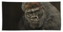 Silver Backed Gorilla Beach Towel