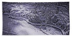 Silver Brook In Winter Beach Sheet