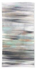 Silver Coast #25 Silver Teal Landscape Original Fine Art Acrylic On Canvas Beach Sheet
