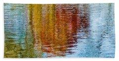 Silver Lake Autumn Reflections Beach Towel