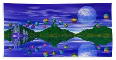 Silver Palace Beach Towel by Mark Blauhoefer