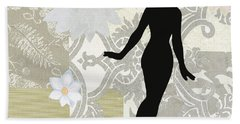 Silver Paper Doll Beach Towel