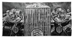 Silver Rolls Royce Beach Towel