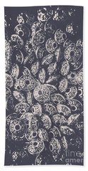 Silver Saucers From Outer Space Beach Towel