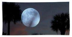 Silver Sky Ball Beach Towel