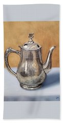 Silver Teapot Beach Towel