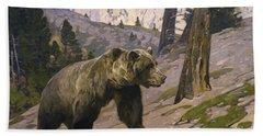 Silver Tip Grizzly Bear - Rocky Mountains, Alberta Beach Towel