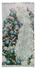 Silver Winter Bird Beach Towel