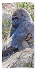 Beach Sheet featuring the photograph Silverback Gorilla  by Donna Brown