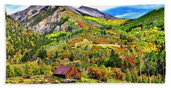 Silverton Fall Colors Colorado Beach Towel