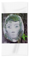 Beach Towel featuring the ceramic art Silvia by Sandy McIntire