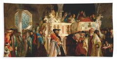 Simchat Torah, Livorno, 1850  Beach Towel