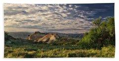 Simi Valley Overlook Beach Towel