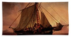 Simonsen Niels Arab Pirate Attack Beach Towel by Niels Simonsen