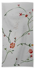 Simple Flowers #1 Beach Towel