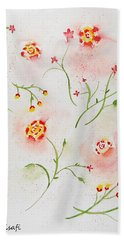 Simple Flowers #2 Beach Towel