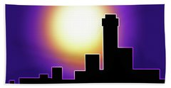 Simple Skyline Silhouette Beach Towel by Yvonne Blasy