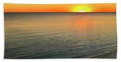 Simple Sunset Beach Towel by Walt Foegelle