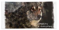 Beach Sheet featuring the digital art Simplicity by Elaine Ossipov