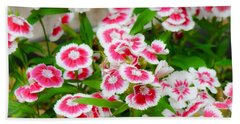 Simply Flowers Beach Towel by Rand Herron
