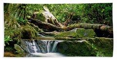 Beach Sheet featuring the photograph Sims Creek Waterfall by Meta Gatschenberger