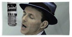 Sinatra - Color Beach Sheet by Paul Tagliamonte
