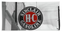 Sinclair Gasoline Round Sign In Selective Color Beach Towel