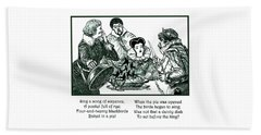Sing A Song Of Sixpence Nursery Rhyme Beach Towel