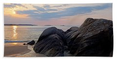 Singing Beach Rocky Sunrise Manchester By The Sea Ma Beach Towel