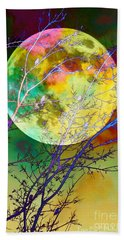 Singing By The Light Of The Moon Beach Towel