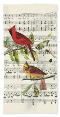 Singing Cardinals Beach Towel