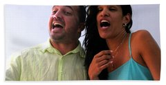 Singing With Passion Beach Towel