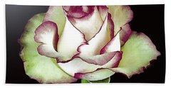 Single Beautiful Rose Beach Towel