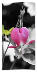 Single Bleeding Heart Partial Beach Towel