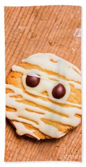 Single Homemade Mummy Cookie For Halloween Beach Towel