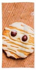 Single Homemade Mummy Cookie For Halloween Beach Towel