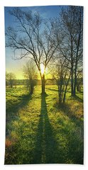 Beach Towel featuring the photograph Single Moments by Phil Koch