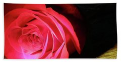 Single Rose  Beach Towel