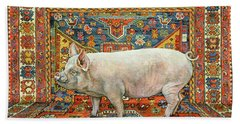 Singleton Carpet Pig Beach Towel by Ditz