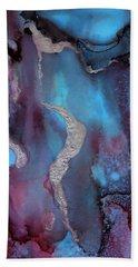Singularity Purple And Blue Abstract Art Beach Towel