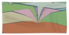 Beach Towel featuring the digital art Sinkfield by Kevin McLaughlin